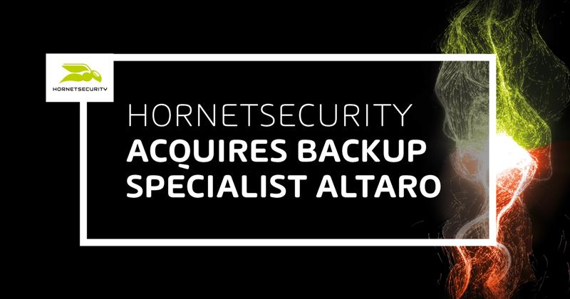 Hornetsecurity neemt Altaro over